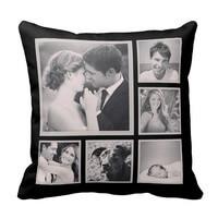 Custom Instagram Photo Collage Pillow