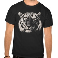 Hipster Tiger With Glasses Tshirts