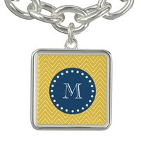 Navy Blue, Yellow Chevron Pattern | Your..