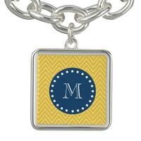 Navy Blue, Yellow Chevron Pattern | Your..