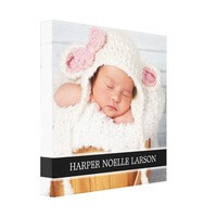 Custom Photo & Monogram Personalized Canvas Art..