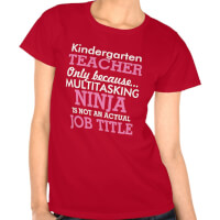 Funny Kindergarten School Teacher Appreciation..
