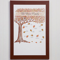 Personalized Fall Family Tree Canvas Wall Art -..