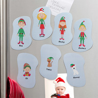Personalized Christmas Refrigerator Magnets -..