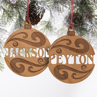 Personalized Wood Name Christmas Ornaments