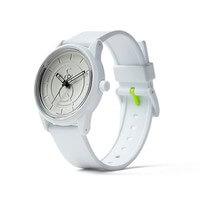 Q&Q Watches: Solar Powered Watch - White/Silver..