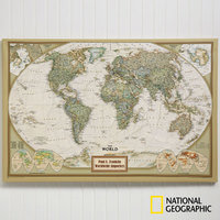 Personalized Canvas World Maps For Executives..