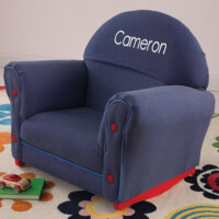 Personalized Upholstered Rocking Chair For Kids..