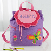 Girls Personalized Butterfly Backpack