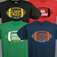 Football Word-Art T-Shirt