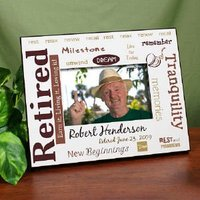 Retirement Personalized Printed Frame - Rest And..