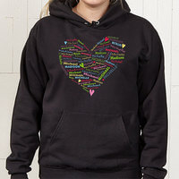 Personalized Womens Hooded Sweatshirts - Heart..