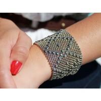 Liquid Metal: Mesh Cuff Bracelet