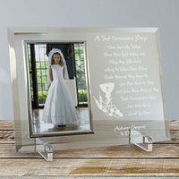 First Communion Beveled Glass Picture Frame