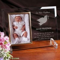 For My Baptism Beveled Glass Picture Frame -..
