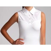 SkinnyShirt: White Sleeveless