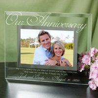 Our Anniversary Glass Picture Frame