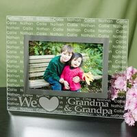 We Love.. Personalized Glass Picture Frame