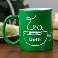 Engraved Tea Drinker Two-Tone Mug