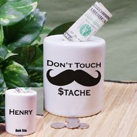 Personalized Ceramic Dont Touch My Stash Coin Jar