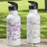 Personalized Aluminum Water Bottle - My Name