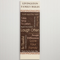 Personalized Canvas Art - Family Rules