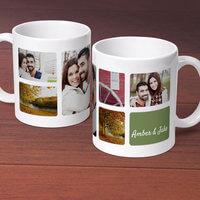 Six Photo Collage - Personalized 11 Oz. Premium..