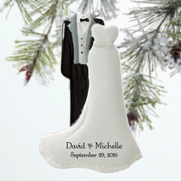 Personalized Wedding Christmas Ornaments - Mr &..