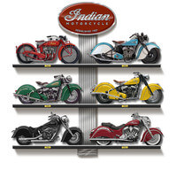 Indian Motorcycle Sculpture Collection With..
