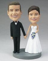 Wedding Couple Bobblehead - Custom Photo Bobble..