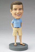 Custom Bobblehead Of A Man In Shorts And Tshirt
