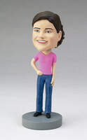Custom Bobblehead Of A Woman In Pants And Tshirt