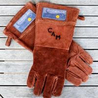 Personalized Leather Grilling Gloves (Branded)
