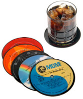 Recycled Record Coasters (Set Of 6)