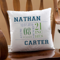 Personalized Baby Birth Pillows For Boys
