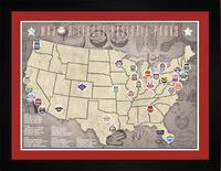 MLB Baseball Parks Tracking Location Map | Gift..
