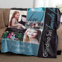 Personalized Fleece Photo Blanket - Favorite Faces