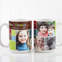 Large Personalized Picture Collage Coffee Mugs -..