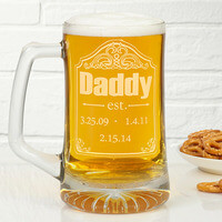 Personalized Beer Mugs For Dad - Date Established