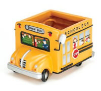 Adorable School Bus Planter