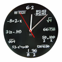 Mathematics Pop Quiz Clock