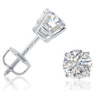 IGI Certified Diamond Stud Earrings