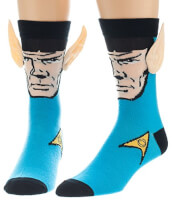 Star Trek Spock With Ears Crew Socks