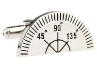 Ruler Protractor Cufflinks In Gift Box