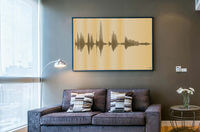 8x10 Personalized Canvas Art From Your Voice!