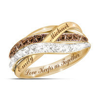 Together In Love Mocha And White Diamond Ring..