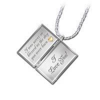 Dear Daughter, Letter Of Love Diamond Locket..