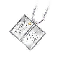 Diamond Love Letter Locket With Loving Message