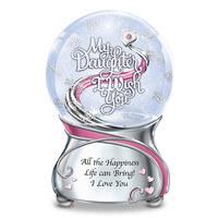 My Daughter, I Wish You Musical Glitter Globe