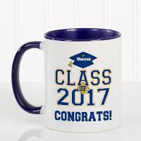 Blue Personalized Graduation Coffee Mugs -..